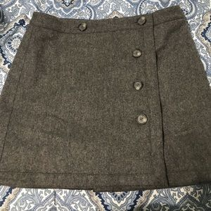 Loft grey wool skirt with buttons size 10